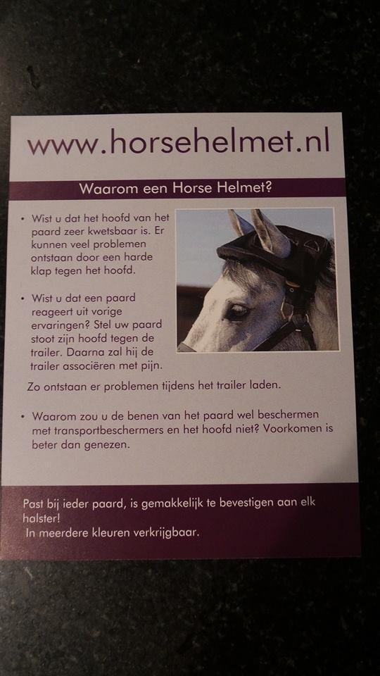 Trailer hoedje (horse helmet)