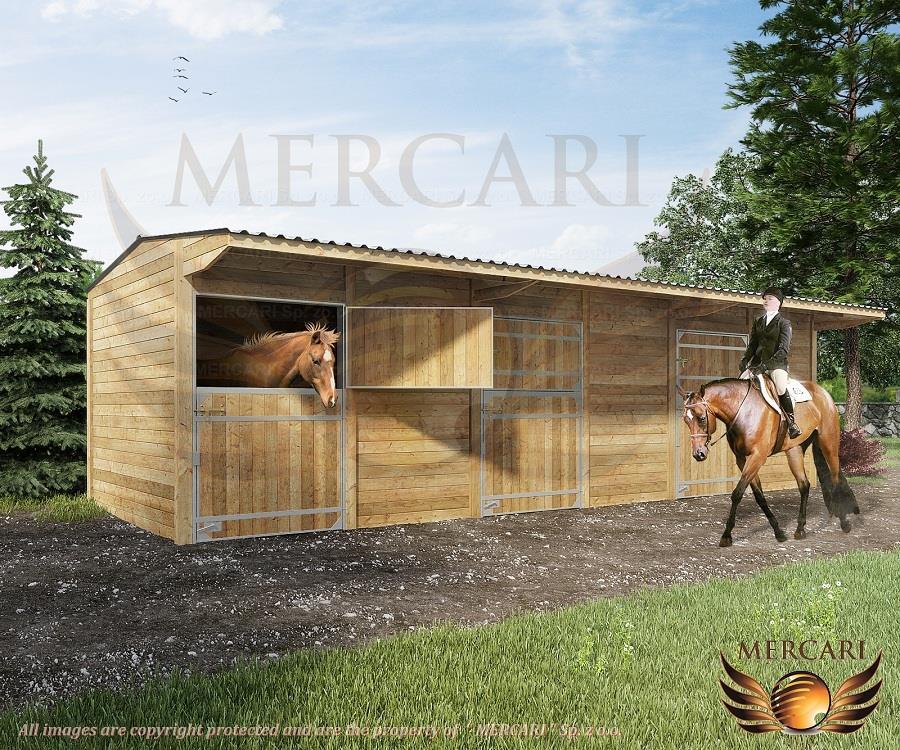 Paardenboxen, Binnenboxen, Buitenstallen