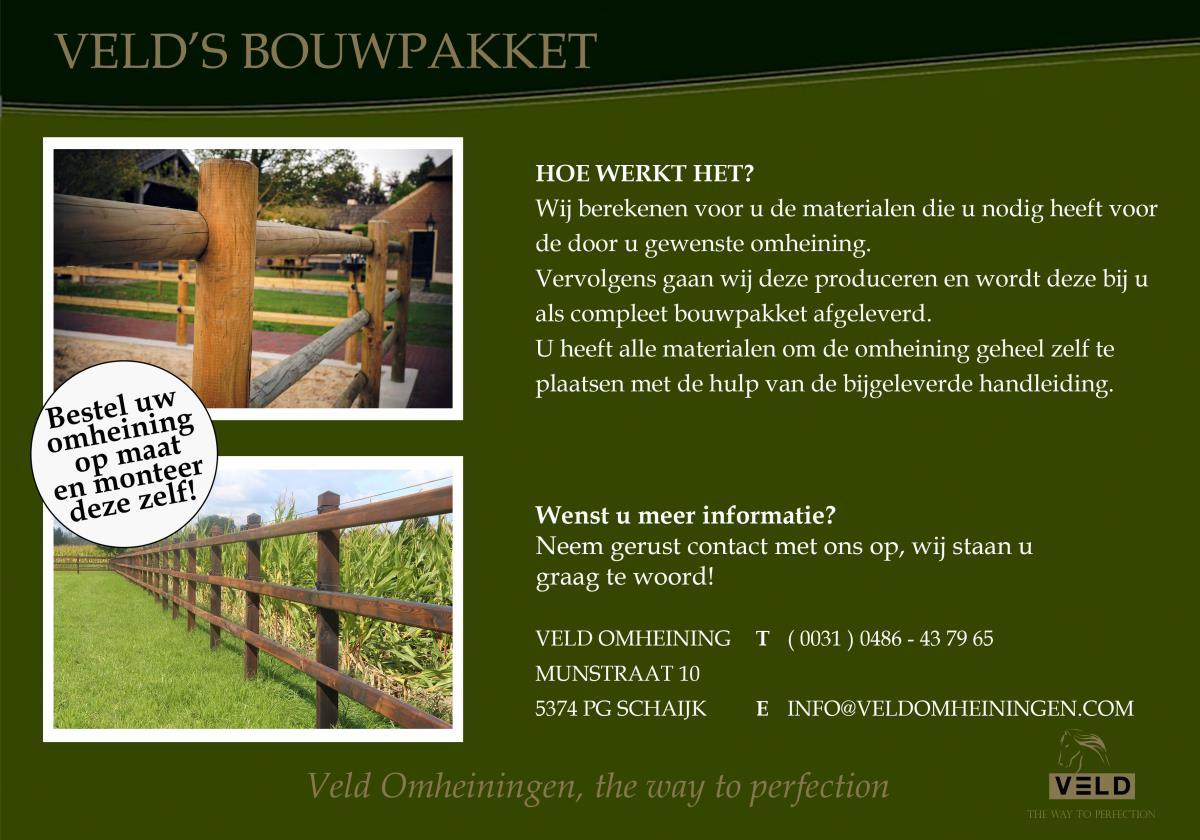 Veld's Bouwpakket, omheining, rijbak, paddock