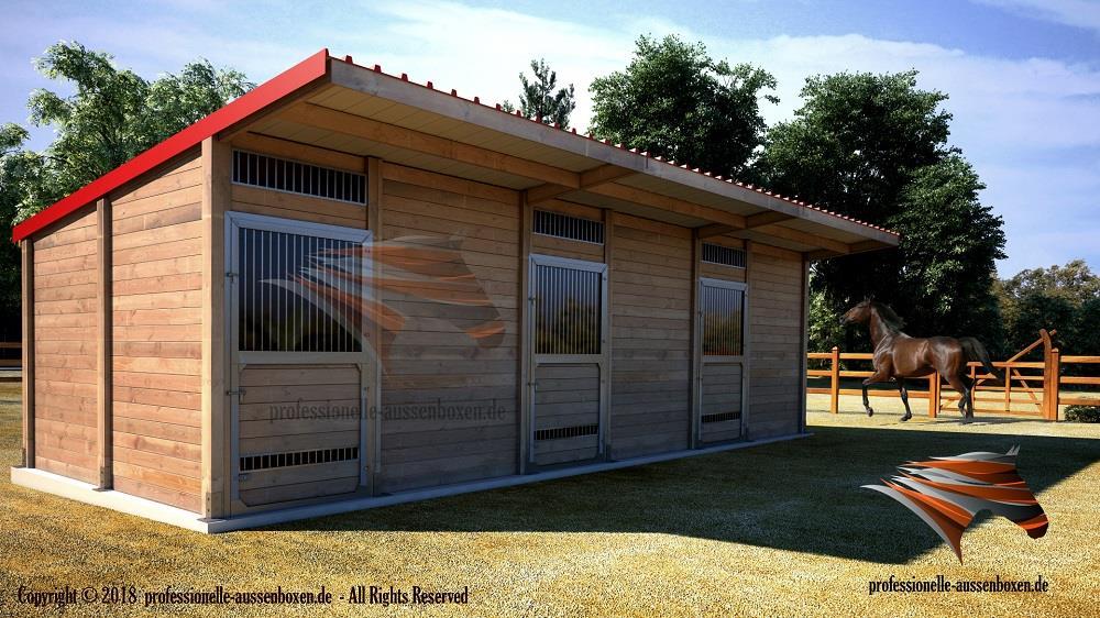 Buitenboxen Paardenboxen Buitenstallen Schuilstal