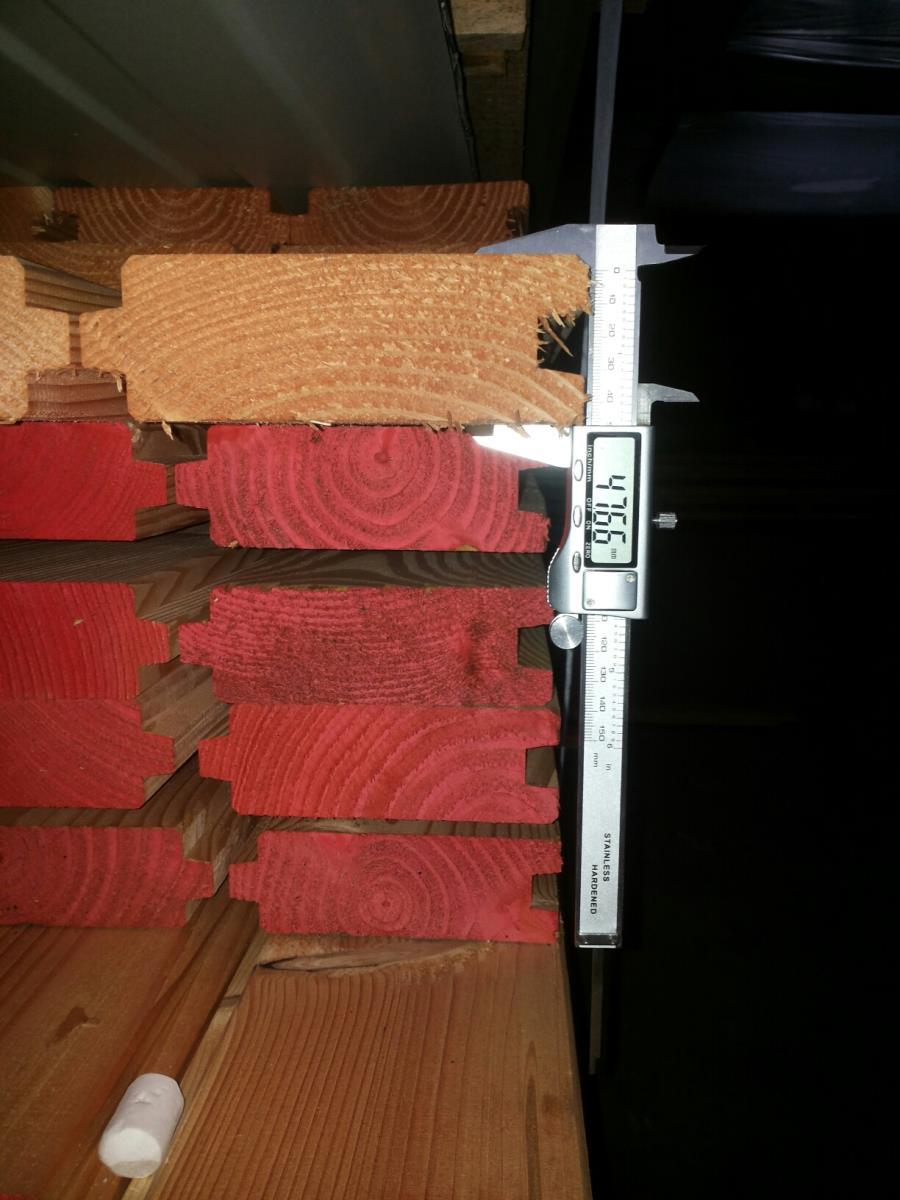 Schuilhok 3x6m +46mm dik douglashout 'NIEUW'